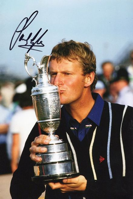 Sandy Lyle, Open Championship 1985 Royal St George's, signed 12x8 inch photo.